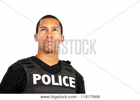 Police officer watching