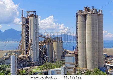Cement plant at day , hong kong