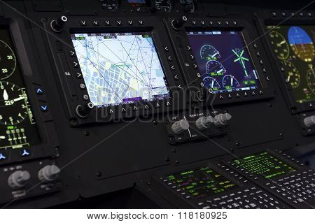 Helicopter control panel