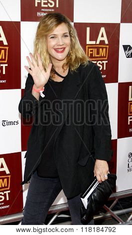 Drew Barrymore at the 2012 Los Angeles Film Festival premiere of