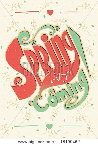 Spring Is Coming Lettering