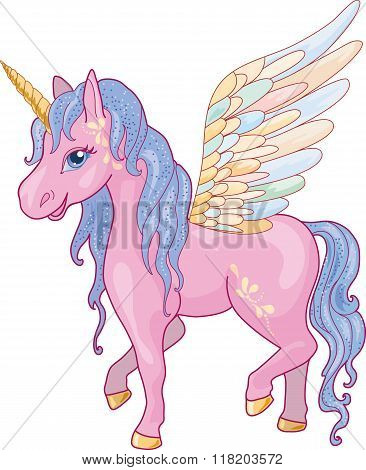 Unicorn Pegasus Vector Illustration