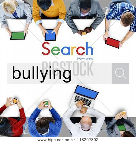 Bullying Force Totment Tyrannise Scare Oppression Concept