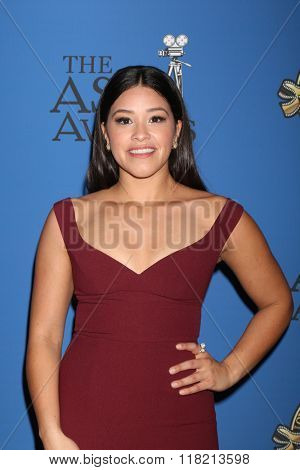 LOS ANGELES - FEB 14:  Gina Rodriguez at the 2016 American Society of Cinematographers Awards at the Century Plaza Hotel on February 14, 2016 in Century City, CA