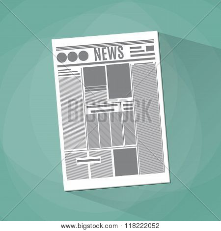 newspaper icon on green background