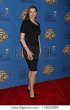 LOS ANGELES - FEB 14:  Geena Davis at the 2016 American Society of Cinematographers Awards at the Century Plaza Hotel on February 14, 2016 in Century City, CA