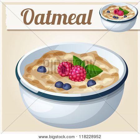 Oatmeal. Cartoon Vector Icon