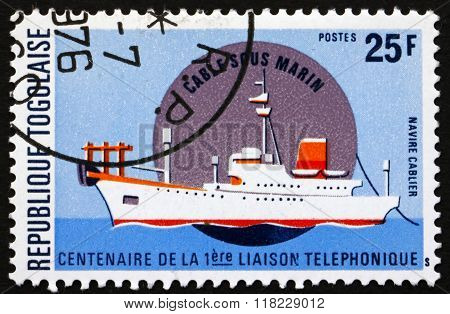 Postage Stamp Togo 1976 Cable-laying Ship