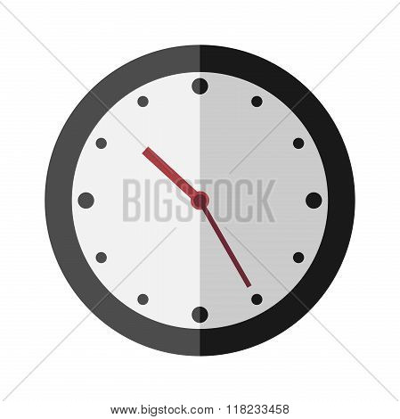 Flat Style Clock Isolated