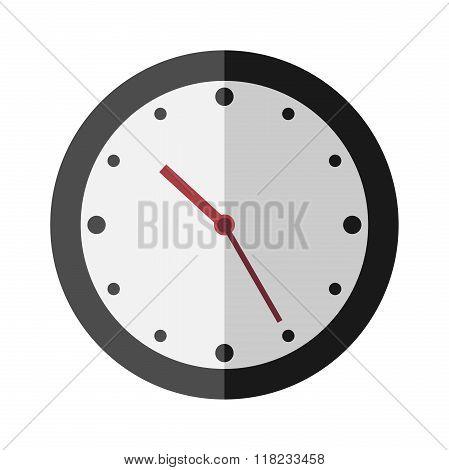 Flat Style Clock Isolated