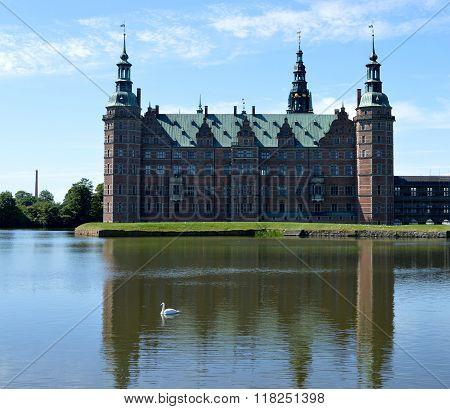 Frederiksborg Castle in Copenhagen, Denmark. Home to the famous Carl Bloch paintings poster