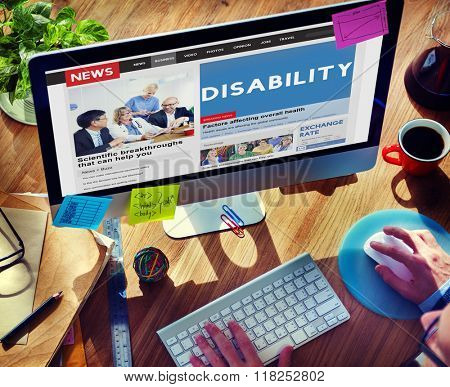 Disability Disabled Disorder Medical Mental Special Concept poster
