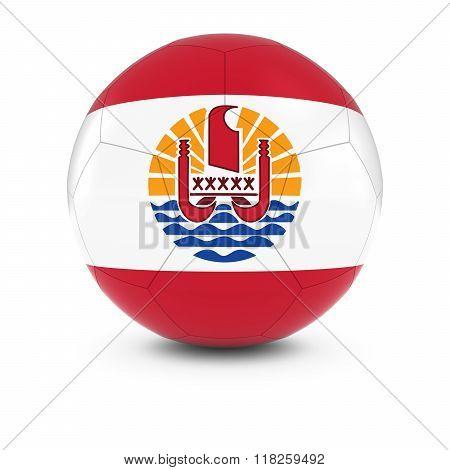 Tahiti Football - Tahitian Flag on Soccer Ball - 3D Illustration