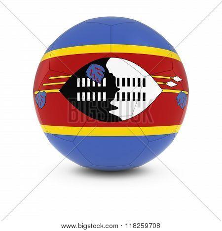 Swaziland Football - Swazi Flag on Soccer Ball - 3D Illustration