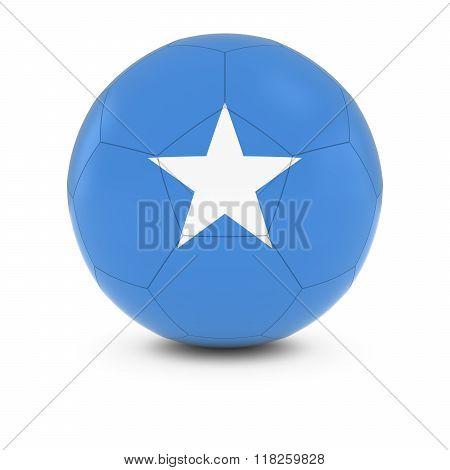 Somalia Football - Somalian Flag on Soccer Ball - 3D Illustration