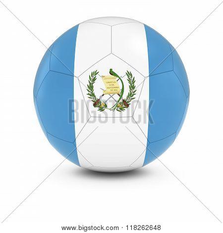 Guatemala Football - Guatemalan Flag on Soccer Ball - 3D Illustration