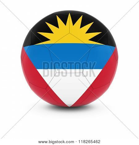 Antigua And Barbuda Football - Antiguan And Barbudan Flag On Soccer Ball