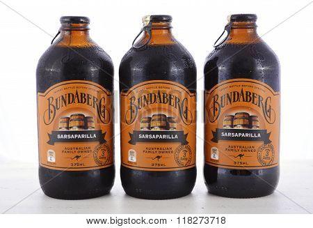 Australian Bundaberg Sarsaparilla Carbonated Soft Drink.