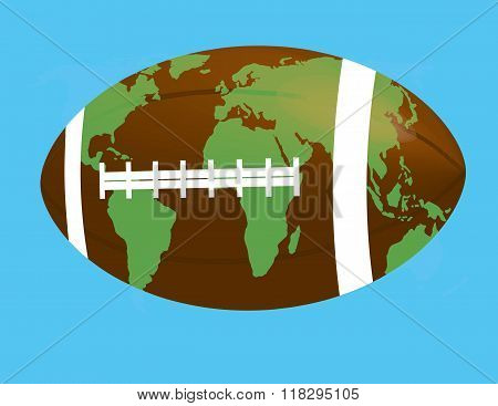 soccer ball as a globe