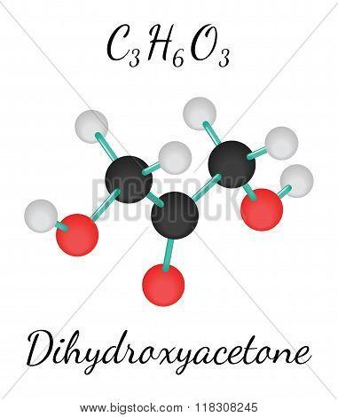 C3H6O3 dihydroxyacetone molecule