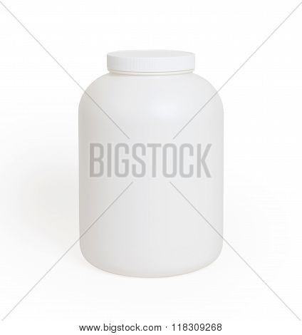 Can Of Protein Or Gainer Powder Isolated