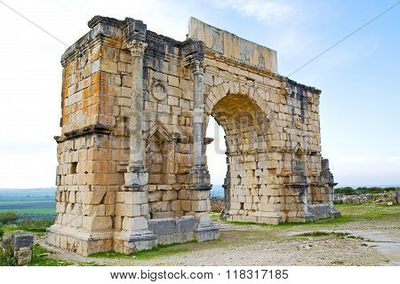 In Morocco Africa The Old Roman   Monument And Site
