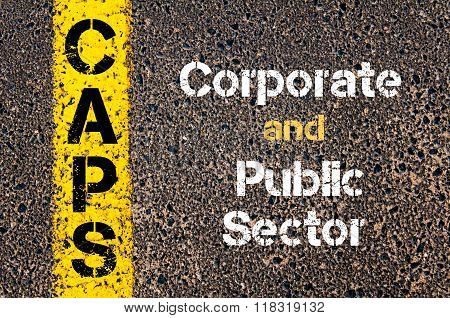 Business Acronym Caps Corporate And Public Sector