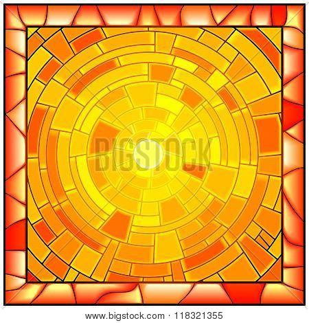 Mosaic Vector Illustration Of Sunshine.