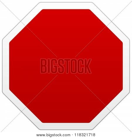 Single Red Blank Sign With Copy Space