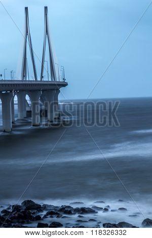 Sea link in Mumbai, India