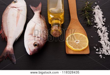RAw fish with other ingredients