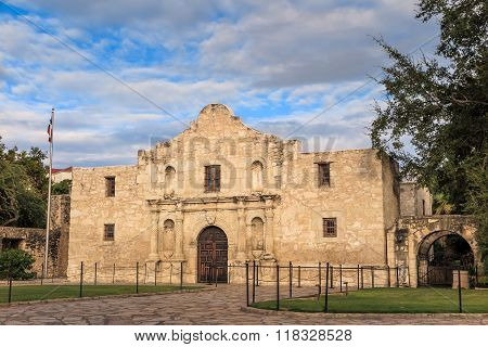 Historic Alamo At Twilight