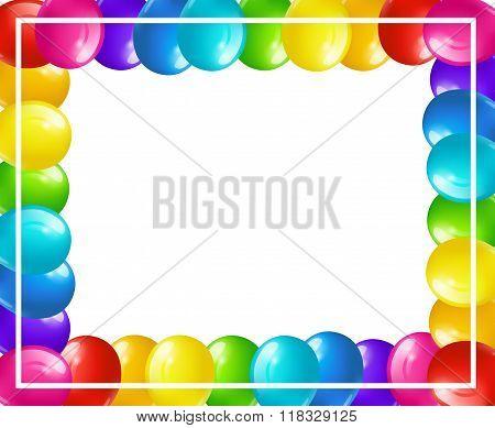 Frame of balloons