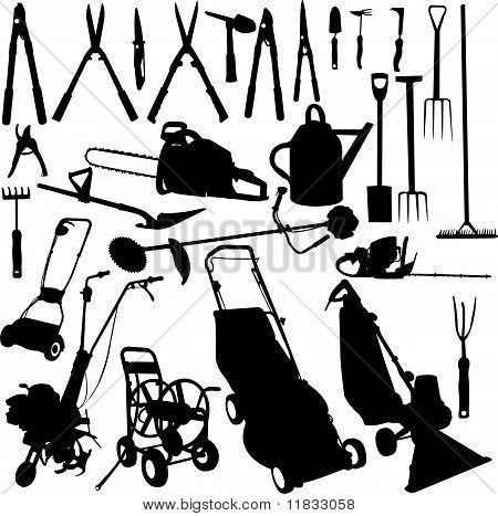 Garden Tools Set - Vector