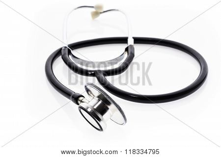 Stethoscope Isolated On White.