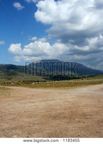 Mountain Landscape In Croatia Over Clouds Background 1