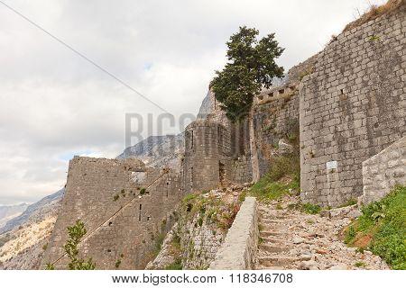 St Mark Bastion Of St John Castle In Kotor, Montenegro