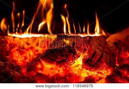Burning Firewood