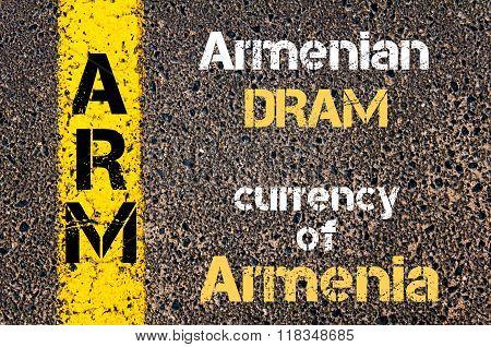 Acronym Arm- Armenian Dram, Currency Of Armenia