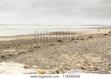 Quiet  Beach In Normandy