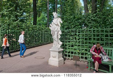 Saint-Petersburg. Russia. Ceres Sculpture