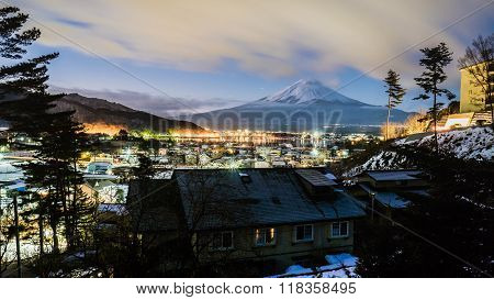 MT.Fuji san in winter japan 2016 landscape
