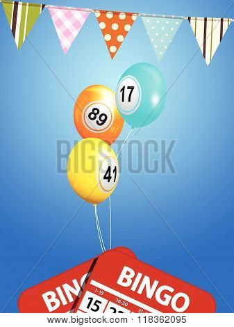 Bingo Balloons With Bunting And Cards