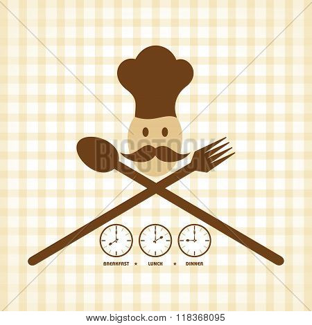 Breakfast Lunch and Dinner time menu card design stock vector