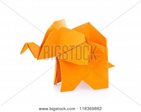 Orange Elephant Of Origami