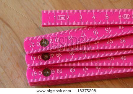pink ruler