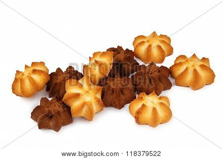 Shortbread Cookies Isolated On White Background