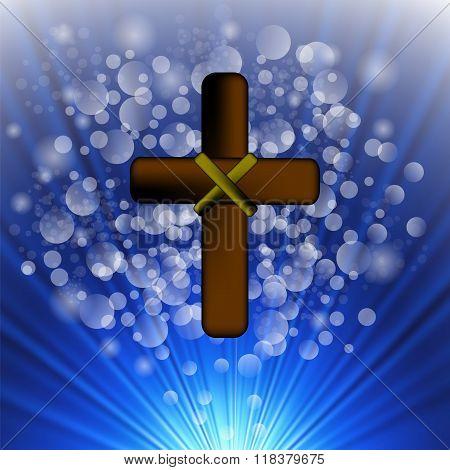 Simple Brown Wooden Cross