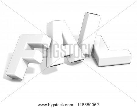 Fail concept. White letters