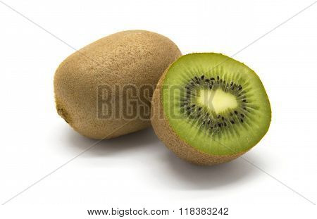 Kiwifruits On White Background
